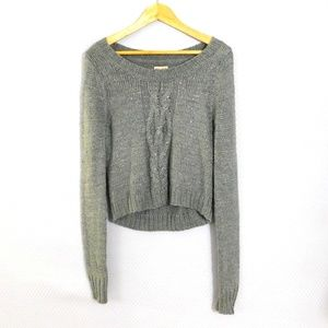 Mudd Grey Sweater with Metalic accents